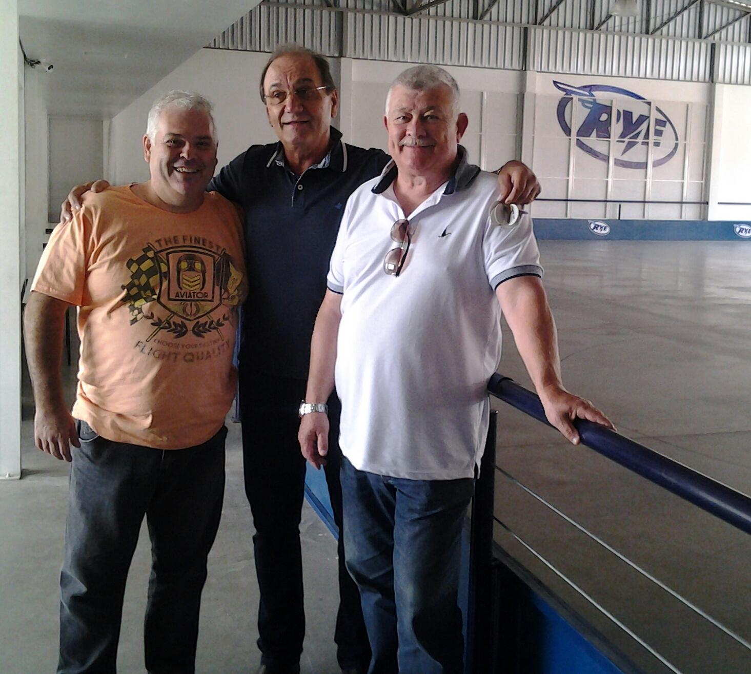 Cláudio Araújo, Iloir Fasolo e Didi Zanini na pista da Rye
